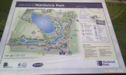 There is an information board with a map of the routes available around the Park