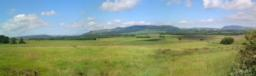 North of Easter Cartmore Farm. Towards Benarty Hill and the Ochils Hills to the West.