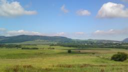 North of Easter Cartmore Farm. Towards Benarty Hill and Ballingry, Crosshill, Lochore and Lochore Meadows Country Park.