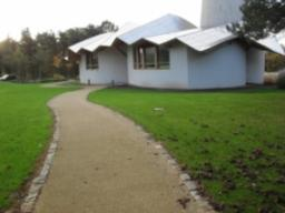 Follow the path past the Maggie's Centre