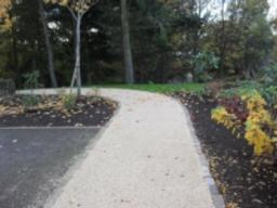 The path passes by the car park