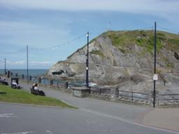 View of Capstone Hill across Ilfracombe Beach