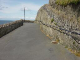 Handrail on hillside of main path for 50+m
