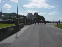 Capstone promenade towards helipad