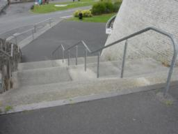 Three flights of steps down to Promenade car park