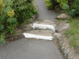 Alternative path up  through gardens
