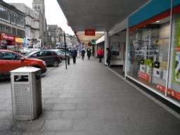 Shop fronts on this section provide shelter in bad weather.