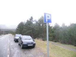 Alternative parking is available nearer to the start of the trail.