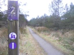 The trail is well signed throughout.