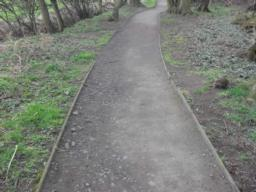 Again some cross gradients and erosion of path with rutting down one side from rain fall