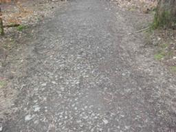 There are loose stones on the path