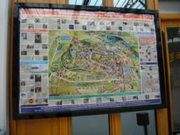 There is a map of Stirling on the right  and cycle route information on the left as you exit the station.