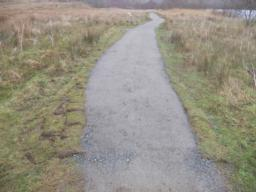 The section of the path had been improved with finer stone. The width of the path is approximately 1.6m