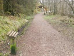 'Perch points' are situated at regular intervals along the path.