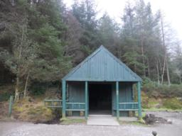 A boathouse and shelter is situated next to the Loch at the top of the hill.