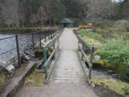A short section of boardwalk creates a narrowing of the path at the end of the trail. It is unlikely that this will create a barrier for wheelchair users.