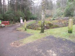 There are three accessible parking areas located at the trail head.
