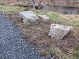 There are no formal seating areas along the route. However, boulders placed alongside the path are makeshift resting points.