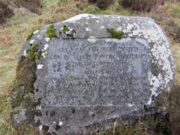 The cottage is commemorated by an inscribed boulder erected in 1975 by the Galloway Association of Glasgow.