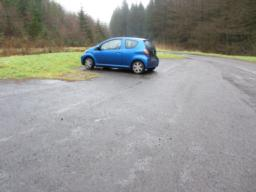 There is a large car park near the viewpoint. No spaces have been allocated for disabled visitors.