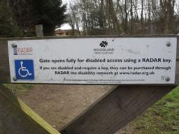 The gate did not appear to be lockable but there is a sign advising visitors that they need a radar key to open fully.  This was not the case on the day of audit, and the gate was opened fully without any problems