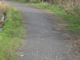 This section has a cross gradient up to 8.5% (1:12) in sections of the path approaching the corner