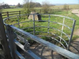 A large kissing gate is erected at the site entrance. This is wide enough to allow wheelchair access inside and can be operated with a slide latch. A RADAR key can also be used to open the  gate out beyond the hooped metal enclosure. This allows greater width clearance for large wheelchairs or mobility vehicles.