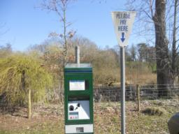 Metered car parking (£1/day) for 50+ vehicles on firm stone or grass surfaces at the Moors.