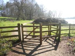 This was the first of two gates encountered along the trail. The width between the two slapping posts measure140cm x 120cm length.