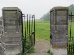 The entrance to Kings Knot.  Heavy metal gate.