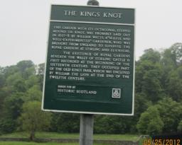 We read the story about the Kings Knot Gardens