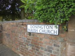Parking is available at St. Cuthbert's Church in Donington, located on Rectory Road.