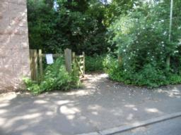 The entrance to Albrighton and Donnington Pool is via a wicket gate.