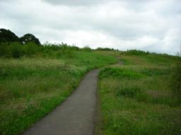 Uphill slope.