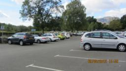 This is the Meadows Car park. If arriving by public transport, the bus stops on Leny Road near the Dreadnought Hotel.