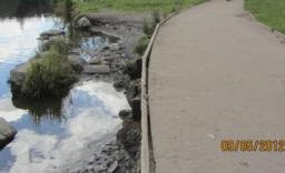 Stay away from the edge  - there is a sharp drop of about half a metre off the path.