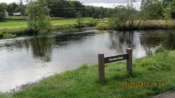 This part of the walk is called The Meetings because this is where two rivers meet - River Teith and River Leny.