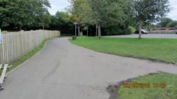We walked straight on here. The right path takes you to the play park.