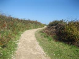 path from lands end complex to store of route stop