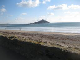 Superb views of mounts Bay. With St Michael's Mount centre.