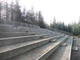 Amphitheatre seating.