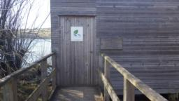 The door to the hide is 0.97m wide