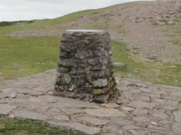 The stone trig point just below Dunkery Beacon.