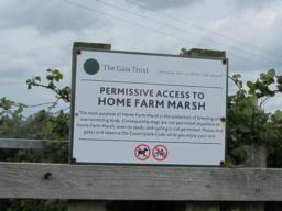 Entrance to Home Farm Nature Reserve from the Tarka Trail.
