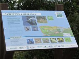 Information board, one of several in the nature reserve