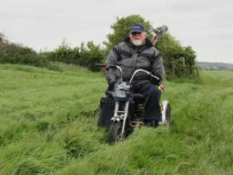 One of the fields had high grass as the picture shows. A normal scooter would not cope with the terrain. A Tramper or TGA would and both types of scooters have tested the site.