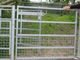 Wheelchair accessible gate.