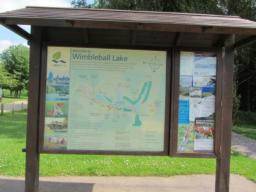 Information board showing the 400 acres of the lake and parkland.