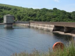 view of the Wimbleball Dam.