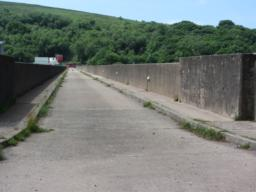 footpath along the top of the dam.